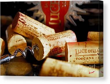 Italian Wine Mixed Media Canvas Prints