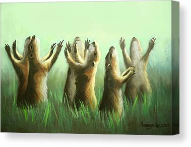 Praising Prairie Dogs Canvas Prints