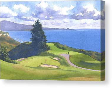 Golf Course Canvas Prints