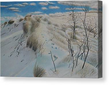 Indiana Winters Drawings Canvas Prints