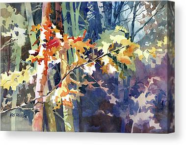 Maple Season Paintings Canvas Prints