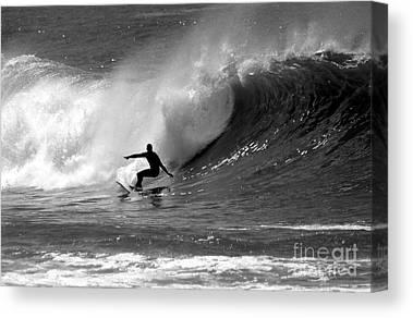 Wave Surfer Canvas Prints