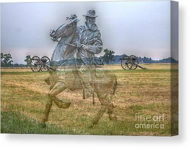Confederate Monument Digital Art Canvas Prints
