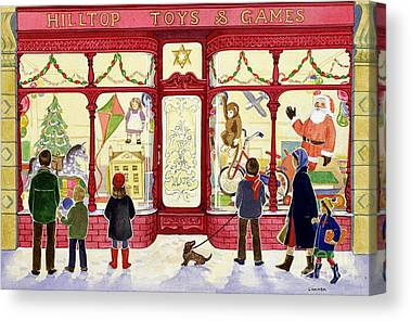 Toy Store Paintings Canvas Prints
