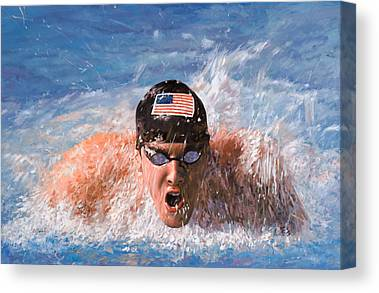 Water Swimming Pool Canvas Prints
