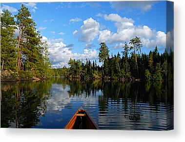 Canoeing Photographs Canvas Prints