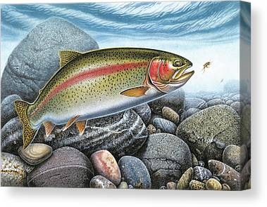 Angling Art Canvas Prints