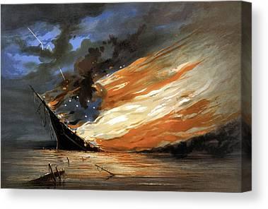 Warship Canvas Prints