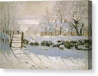 Snow Scene Canvas Prints
