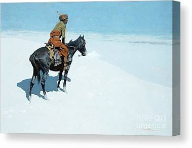 Cowboys And Indians Paintings Canvas Prints