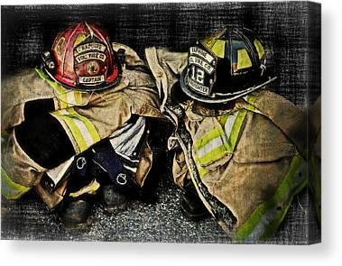 Volunteer Firefighter Canvas Prints