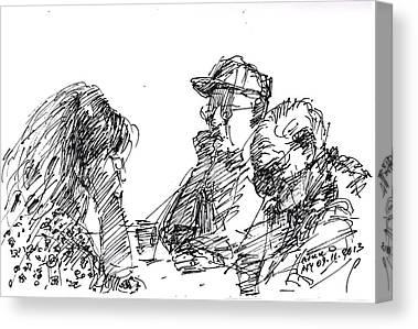 Tim Drawings Canvas Prints
