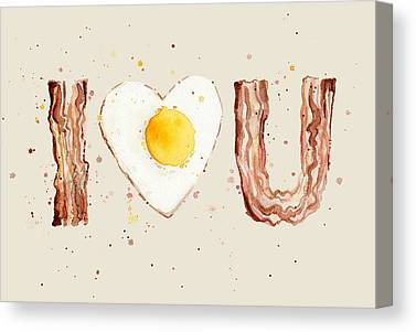 Eggs And Bacon Canvas Prints