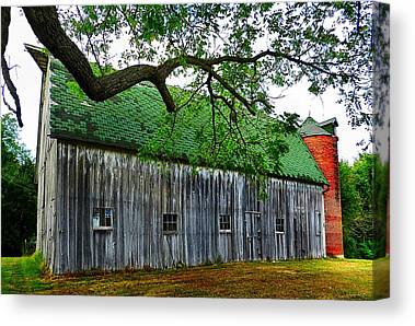 Illinois Barns Photographs Canvas Prints