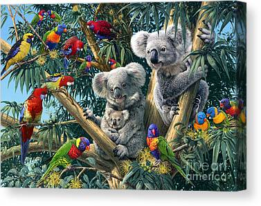 Koala Bear Digital Art Canvas Prints