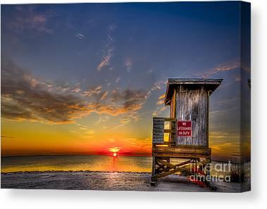 Beach Sheds Canvas Prints