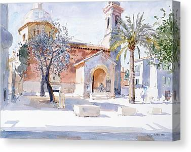 South Of France Drawings Canvas Prints