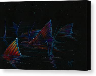 Flyfishing Mixed Media Canvas Prints