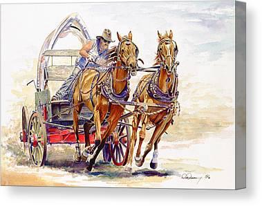 Wild Racers Paintings Canvas Prints