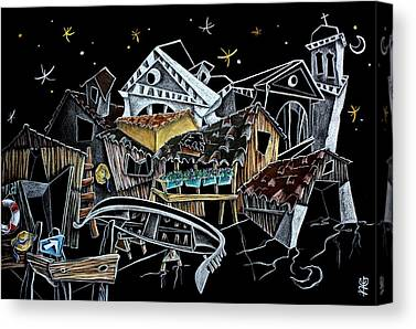 Architettura Drawings Canvas Prints