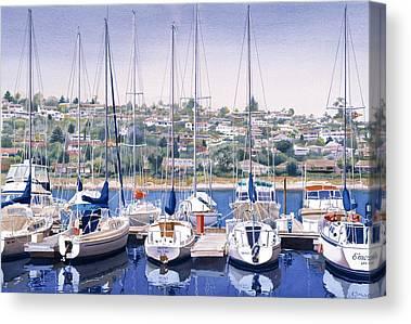 South Dock Canvas Prints