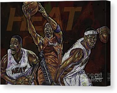 Dwayne Wade Canvas Prints