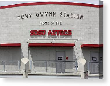 San Diego California Baseball Stadiums Digital Art Canvas Prints