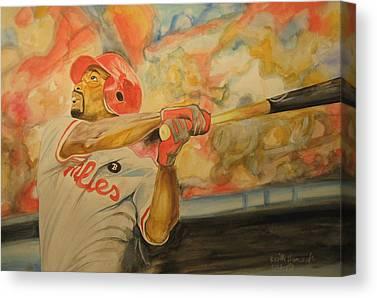 Jimmy Rollins Mixed Media Canvas Prints