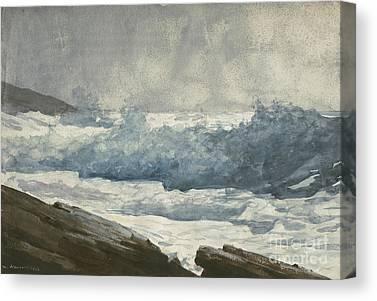Rocky Maine Coast Drawings Canvas Prints