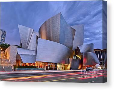 Walt Disney Concert Hall Photographs Canvas Prints