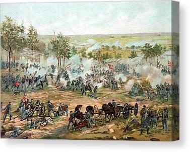 Gettysburg Battlefield Canvas Prints