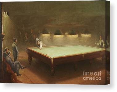 Billiards Canvas Prints
