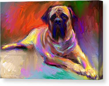 Mastiff Canvas Prints