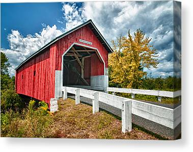 Covered Bridges Photographs Canvas Prints