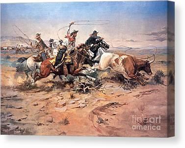 Texan Horses Canvas Prints