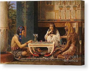 Chess Players Canvas Prints