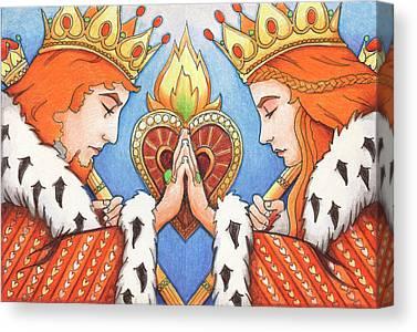 Artist Trading Card Canvas Prints
