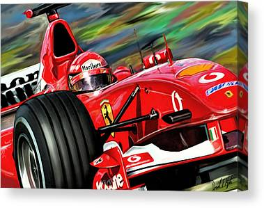 Formula Car Canvas Prints