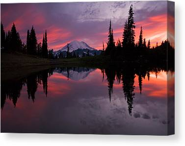 Mt. Rainier Canvas Prints