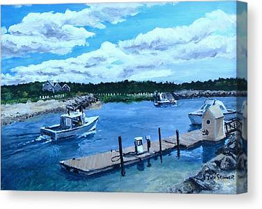 Northside Marina Canvas Prints
