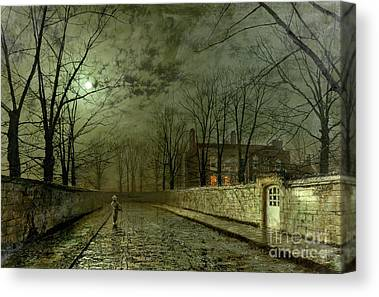 Moon Paintings Canvas Prints