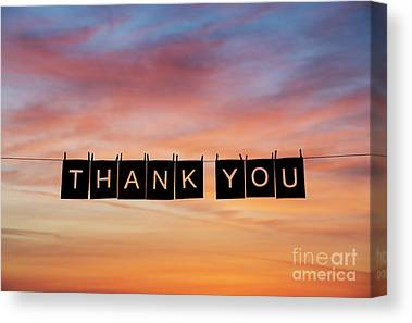 Thank You Canvas Prints