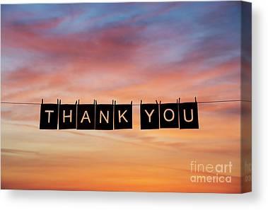 Thank Canvas Prints