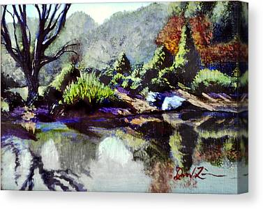 Brookside Gardens Paintings Canvas Prints