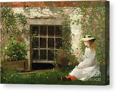 Victorian Garden Canvas Prints