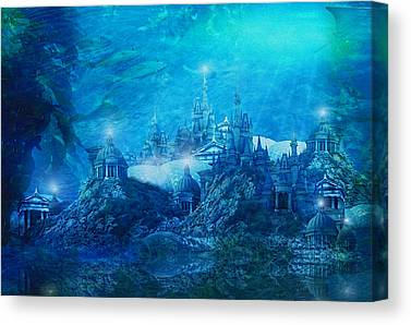 Atlantis Fish Digital Art Canvas Prints