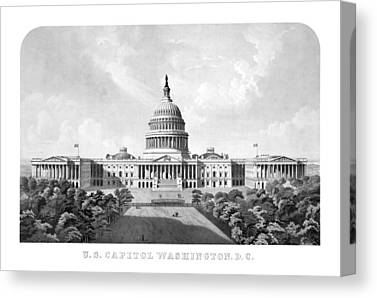 Us Capital Mixed Media Canvas Prints
