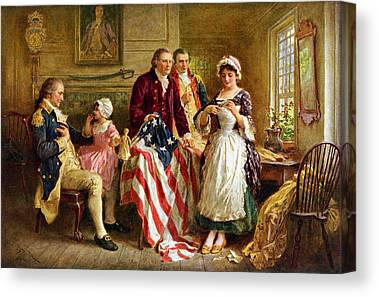 American Revolutionary War Canvas Prints