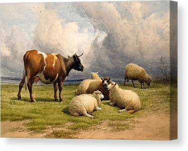 Country Setting Paintings Canvas Prints