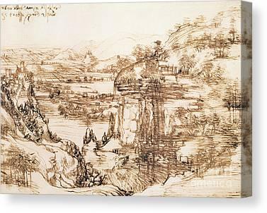 Italian Landscape Drawings Canvas Prints